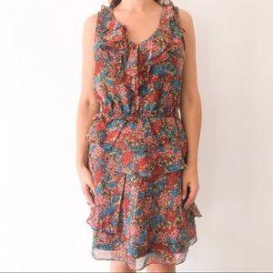 Madewell Eliot Floral Silk Ruffle Short Dress 4